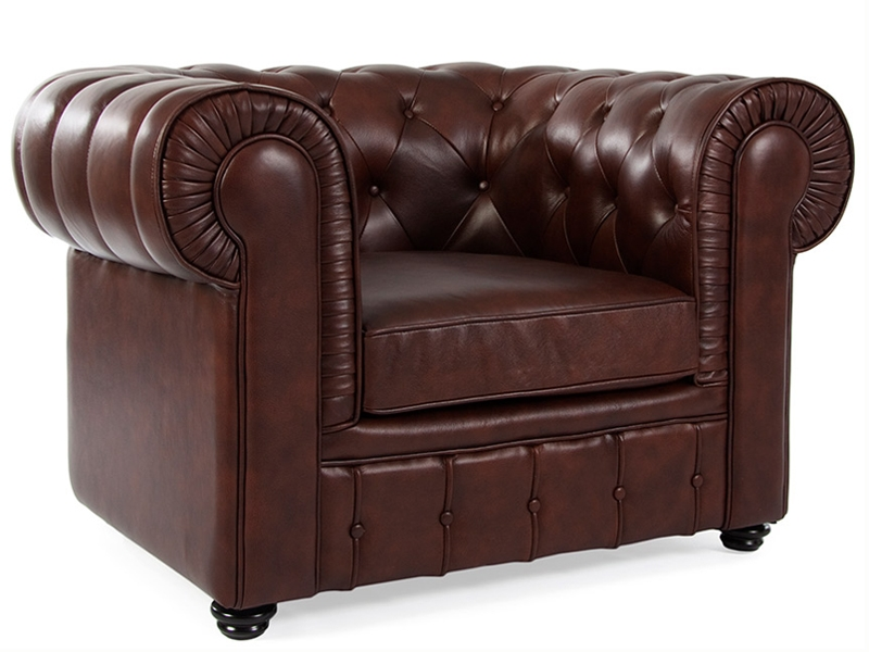 chesterfield klub sessel braun. Black Bedroom Furniture Sets. Home Design Ideas