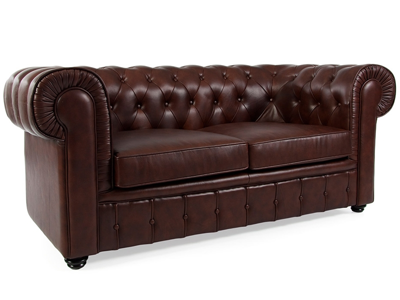 chesterfield sofa 2 sitzer braun. Black Bedroom Furniture Sets. Home Design Ideas