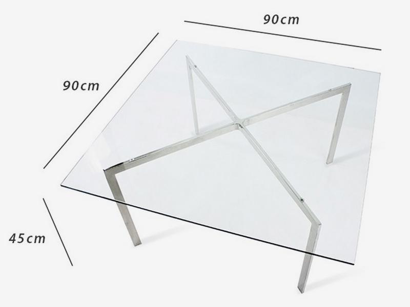 Bild Designer-Möbel Couchtisch Barcelona - 90 x 90 cm