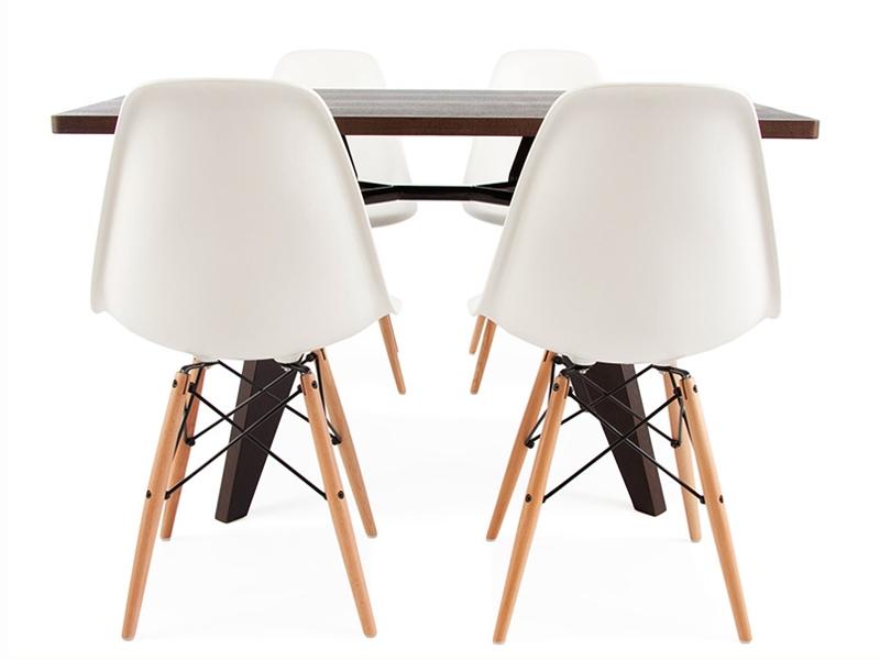e tisch prouv mit 4 st hlen. Black Bedroom Furniture Sets. Home Design Ideas