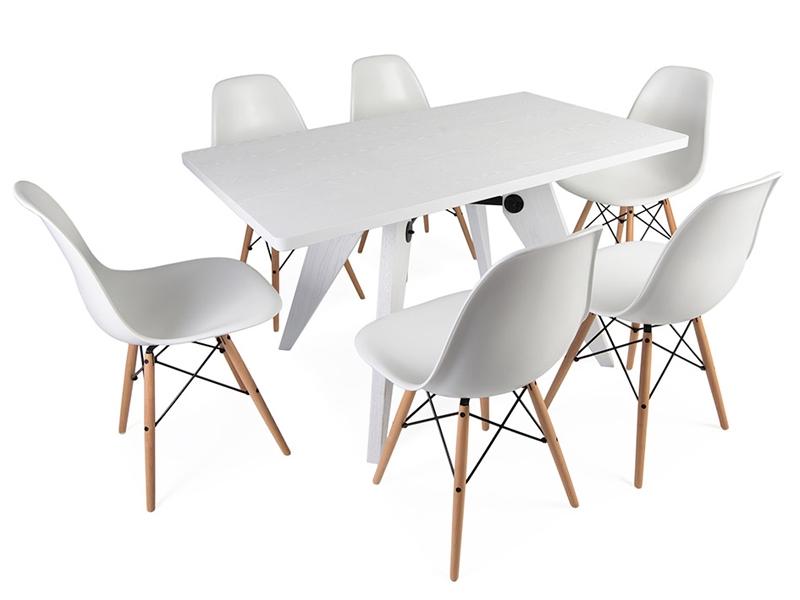 e tisch prouv mit 6 st hlen. Black Bedroom Furniture Sets. Home Design Ideas