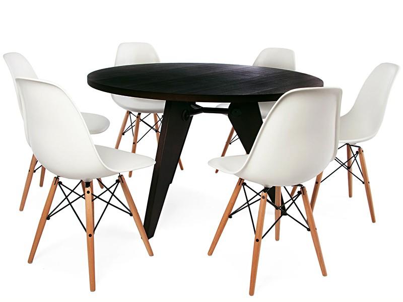 Eß Tisch Prouvé Rund Mit 6 Stühlen