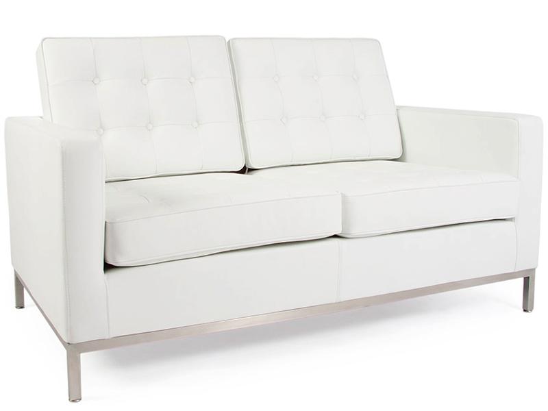 knoll lounge 2 sitzer wei. Black Bedroom Furniture Sets. Home Design Ideas