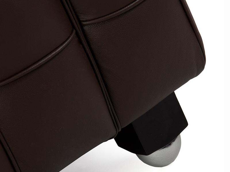 Bild Designer-Möbel Kubus Sofa 2 Sitzer - Braun
