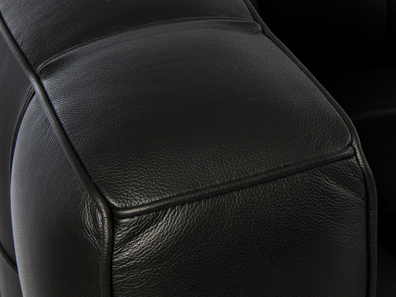 Bild Designer-Möbel Kubus-Sofa 2-Sitzer Schwarz – schlicht und dennoch schick