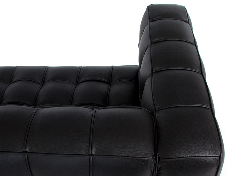 kubus sofa 2 sitzer schwarz als reproduktion. Black Bedroom Furniture Sets. Home Design Ideas