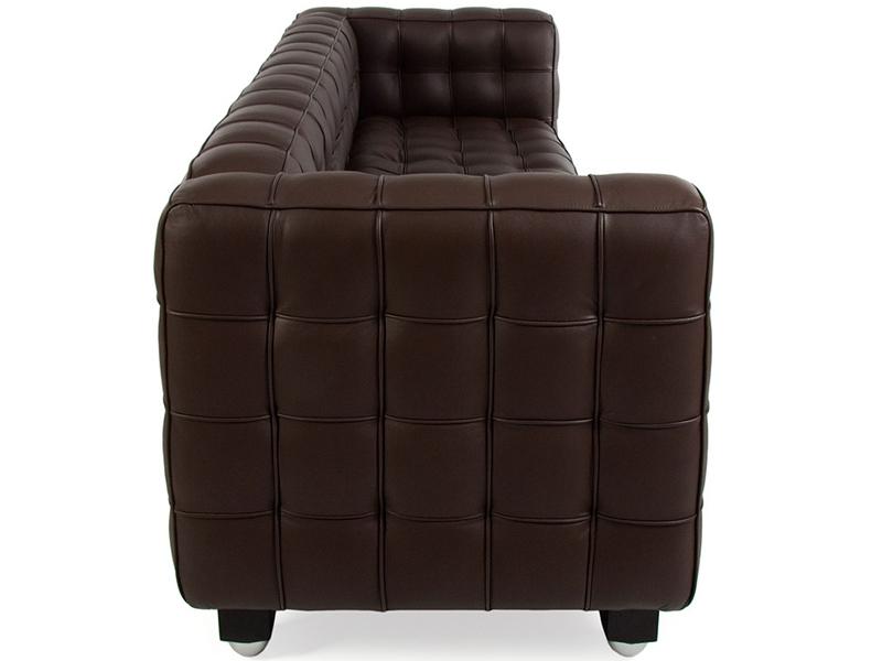 Bild Designer-Möbel Kubus Sofa 3 Sitzer - Braun