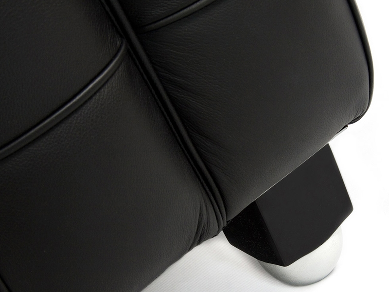 Bild Designer-Möbel Kubus Sofa 3 Sitzer - Schwarz