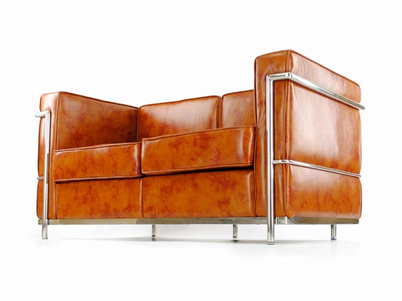 Bild Designer-Möbel LC2 2-Sitzer Le Corbusier - Karamell