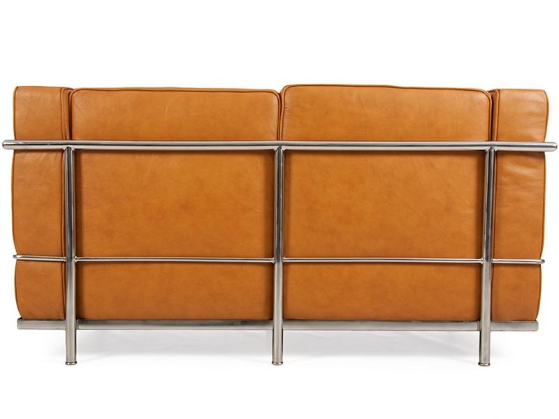Bild Designer-Möbel LC2  2-Sitzer Le Corbusier- Karamell