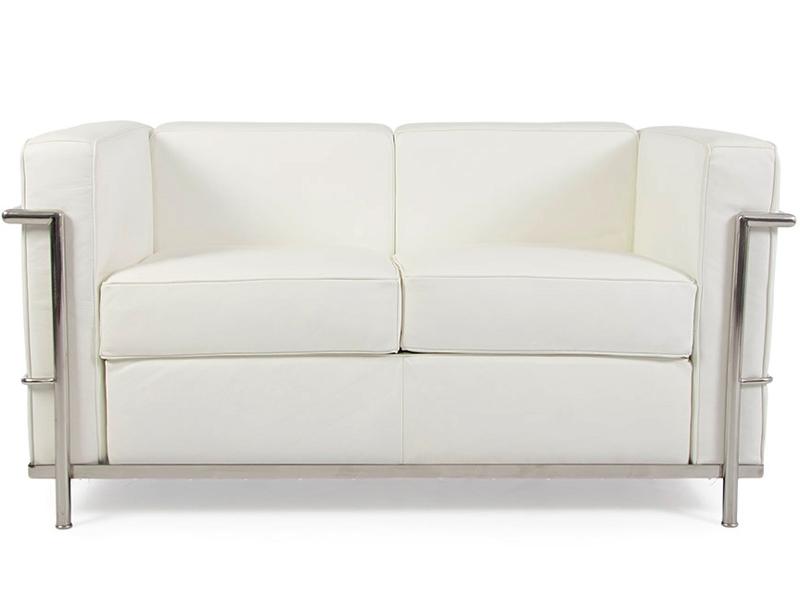 Bild Designer-Möbel LC2 2-Sitzer  Le Corbusier- Weiß
