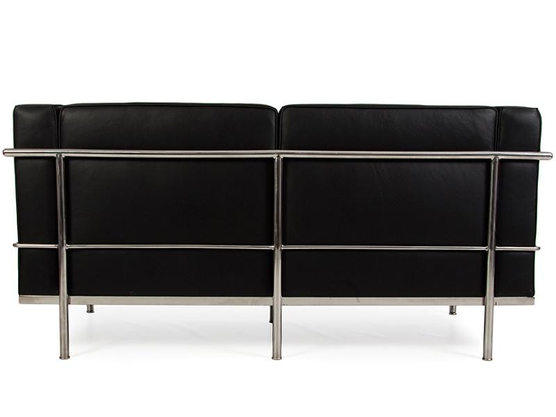 Bild Designer-Möbel LC2 - 2 Sitzer Sofa Breit - Schwarz