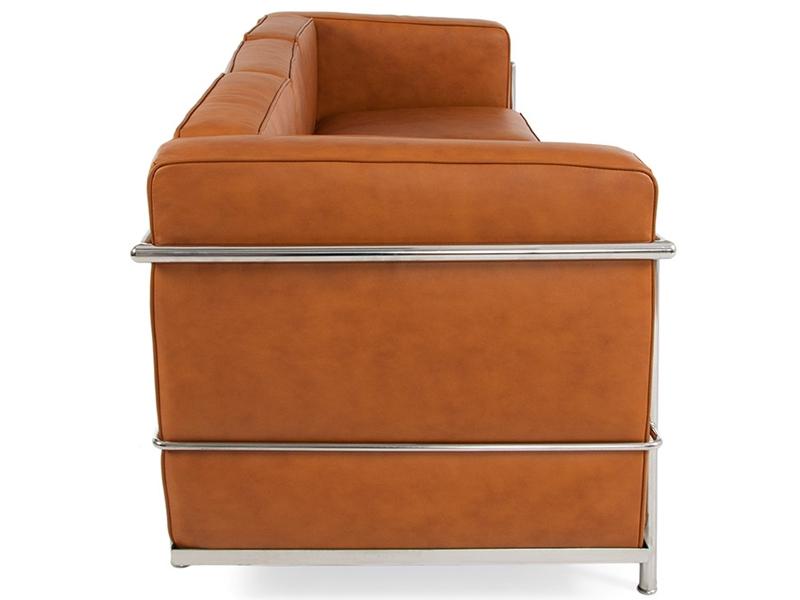 Bild Designer-Möbel LC2 3-Sitzer Le Corbusier - Karamell