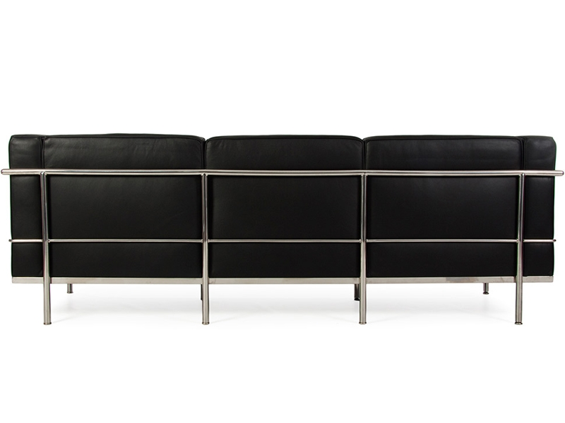 Bild Designer-Möbel LC2 3 Sitzer Le Corbusier Large - Schwarz
