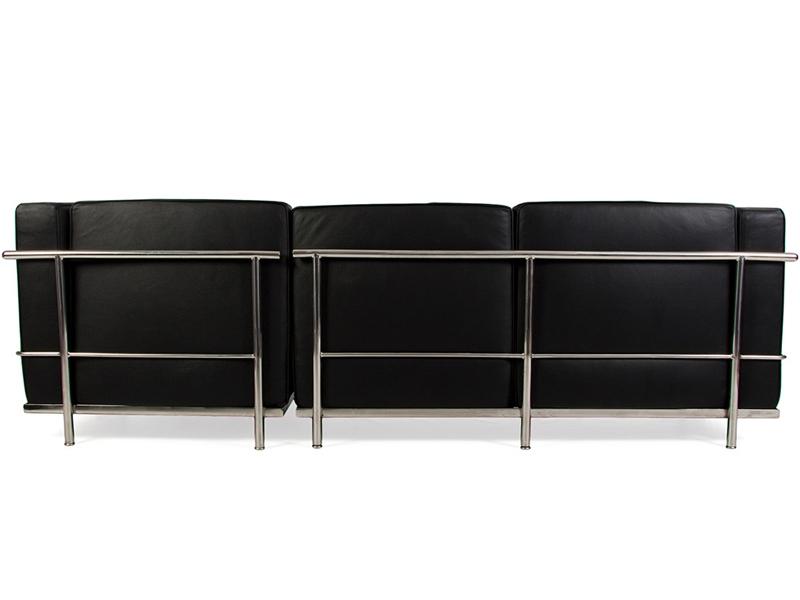 lc2 ecksofa le corbusier schwarz. Black Bedroom Furniture Sets. Home Design Ideas