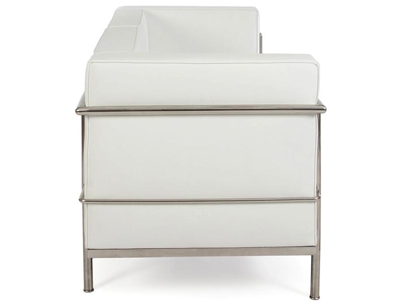 Bild Designer-Möbel LC2 Le Corbusier 2 Sitzer Large-Weiß