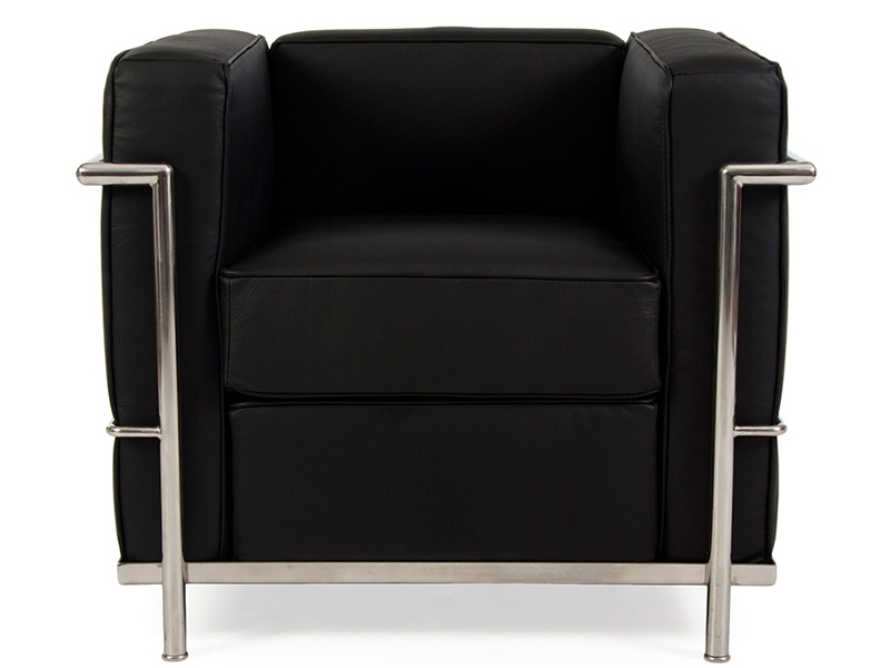 lc2 sessel le corbusier schwarz. Black Bedroom Furniture Sets. Home Design Ideas