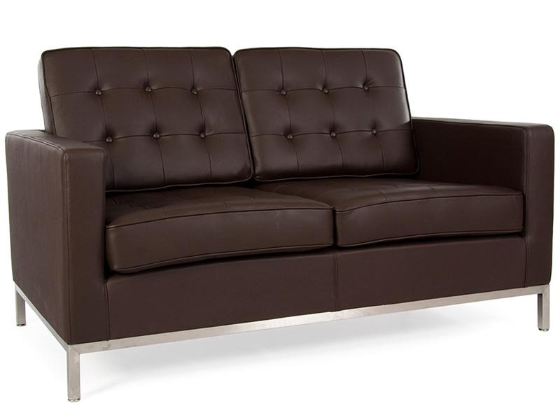 lounge knoll 2 sitzer braun. Black Bedroom Furniture Sets. Home Design Ideas