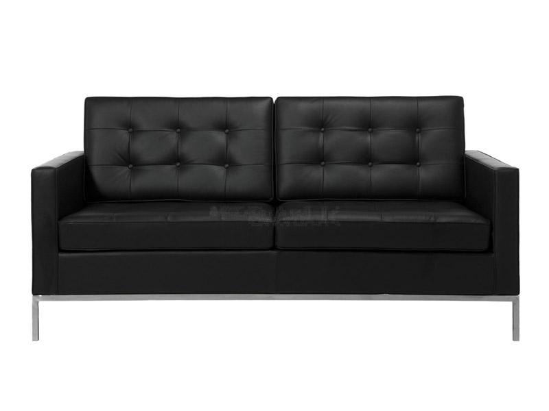 lounge knoll 2 sitzer schwarz. Black Bedroom Furniture Sets. Home Design Ideas