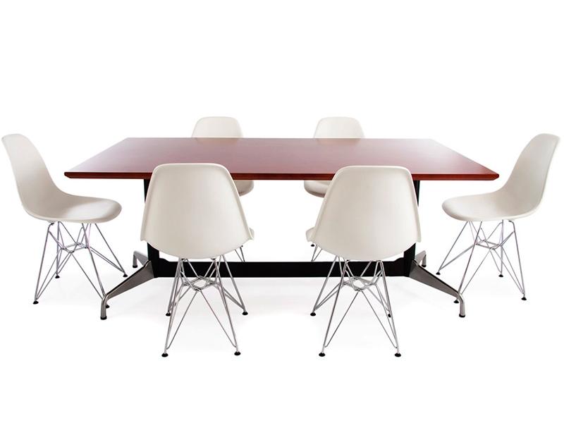 tisch eames contract und 6 st hlen. Black Bedroom Furniture Sets. Home Design Ideas