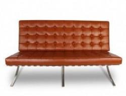 Bild Designer-Möbel Barcelona Sofa 2 Sitzer - Cognac