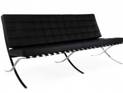 Bild Designer-Möbel Barcelona Sofa 3 Sitzer - Schwarz