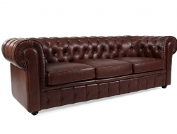 Bild Designer-Möbel Chesterfield Sofa 3 Sitzer- Braun