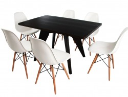 Bild Designer-Möbel Eß-Tisch Prouvé mit 6 Stühlen
