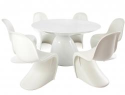 Bild Designer-Möbel Eßtisch Parabol mit 6 Stühlen