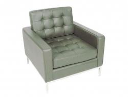 Bild Designer-Möbel Knoll Lounge Sessel - Grau