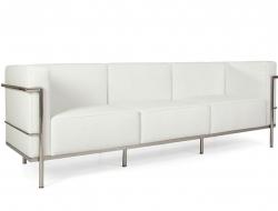 Bild Designer-Möbel LC2 3 Sitzer Le Corbusier Large - Weiß