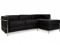 Bild Designer-Möbel LC2 Ecksofa Le Corbusier - Schwarz