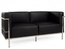 Bild Designer-Möbel LC3 - 2 Sitzer Sofa breit - Schwarz