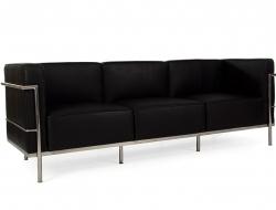 Bild Designer-Möbel LC3 3 Sitzer Le Corbusier Breit - Schwarz