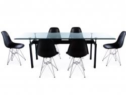 Bild Designer-Möbel LC6 Le Corbusier Tisch und 6 Stühlen
