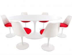 Bild Designer-Möbel Oval Tisch Saarinen mit 6 Stühlen