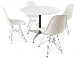 Bild Designer-Möbel Tisch Eames Contract und 4 Stühlen