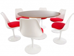 Bild Designer-Möbel Tulip Tisch Saarinen mit 6 Stühlen