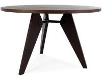 Bild Designer-Möbel Eß -Tisch Prouvé Rund mit 4 Stühlen