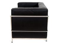 Bild Designer-Möbel LC2 (2-Sitzer) Le Corbusier in Schwarz – jetzt als Reproduktion bei Famous-Design bestellen!