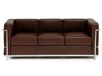 Bild Designer-Möbel LC2 3-Sitzer Le Corbusier - Braun