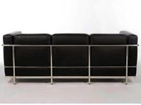 Bild Designer-Möbel LC2 3-Sitzer Le Corbusier - Schwarz
