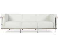Bild Designer-Möbel LC3 3 Sitzer Le Corbusier Breit - Weiß