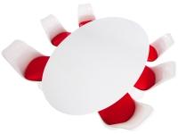 Bild Designer-Möbel Ovaler Tisch Saarinen mit 6 Stühlen