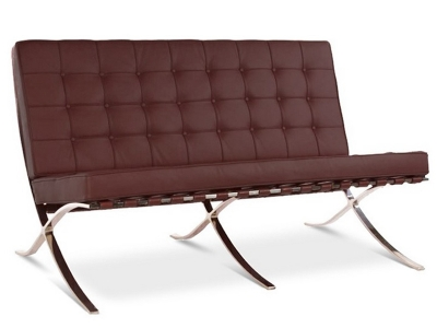 Bild Designer-Möbel Barcelona Sofa 2 Sitzer - Braun