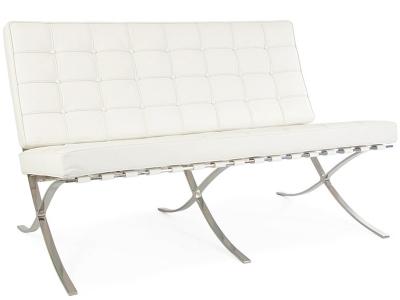 Bild Designer-Möbel Barcelona Sofa 2 Sitzer - Weiß