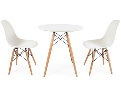 Bild Designer-Möbel Beistelltisch Eames mit 2 Stühlen