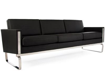 Bild Designer-Möbel CH103 Hans Wegner 3-Sitzer Schwarz