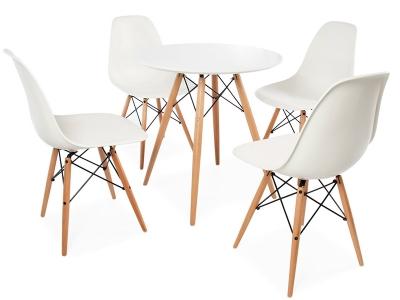 Bild Designer-Möbel Eames Beistelltisch & 4 DSW Stühle