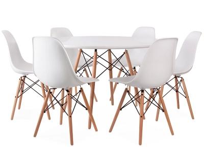Bild Designer-Möbel Eames Tisch WDW mit 6 Stühlen